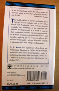 'That Hideous' back cover.