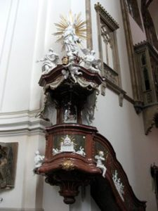 Pulpit on wall