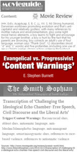 Evangelical vs. Progressivist Content Warnings