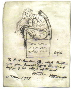 Cthulhu sketch by H.P. Lovecraft