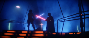 "Luke Skywalker confronts Darth Vader in the climax of ""Star Wars Episode V: The Empire Strikes Back."""