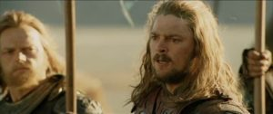 """Oaths you have taken, now fulfill them all!"" Eomer from The Lord of the Rings: The Two Towers"