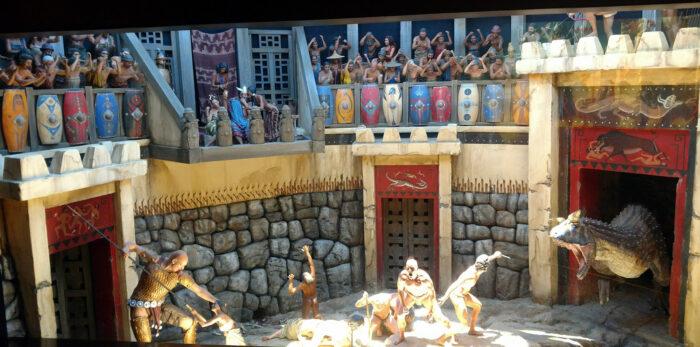 Gladiator diorama at Ark Encounter, July 2018