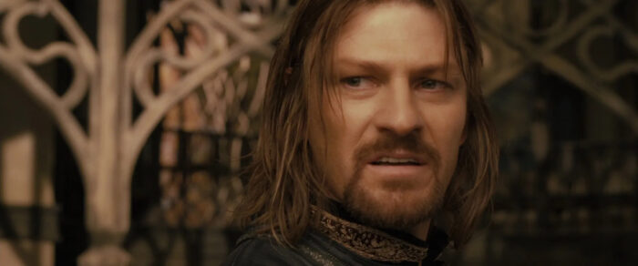 """Boromir denies Gondor's need for a king in """"The Lord of the Rings: The Fellowship of the Ring"""" (2001)"""